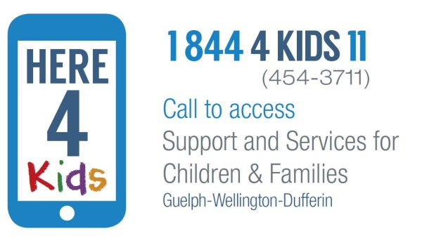 call 1.844.454.3711 anytime to access support and services for Children and Families